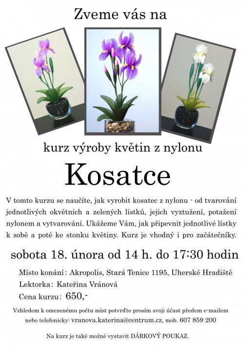 Květiny z nylonu - kosatce