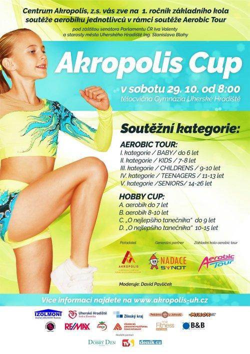 AKROPOLIS CUP Uh.Hradiště - soutěž v aerobiku a tanci jednotlivců